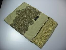 Womens Rose design Shawl Neckscarf scarf wrap shawls 12pcs lot hot #1832