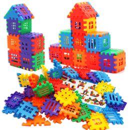 """Childhood Memory"" Plastic Building Blocks Play Set for Children Boys Girls Self-assembly educational Toys 100pcs  lot1T0005-houseblock"