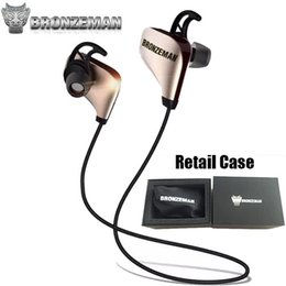 Wholesale Noise Cancellation Bluetooth Headphones For Gym High End BRONZEMAN Gold BZM8 Wireless Sweatproof Stereo Earbuds Headset With Mic