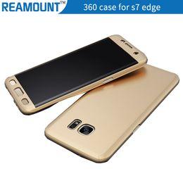 Hot Selling 360 Degree CoverCase Full Hybrid Tempered Glass+Acrylic Hard Case Cover for Samsung s7 edge Mobile Phone Case