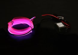 Wholesale-NEW 10 Color 1m welted EL Wire(Neon wire,electrolumines wire) with 12VDC Activated Set
