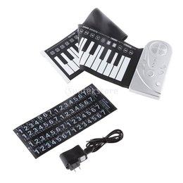 Piano del teclado suave 49 en venta-Venta al por mayor- 49 teclas electrónicas Roll Up Soft teclado piano plegable digital instrumento musical multifunción