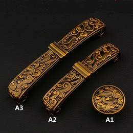 Wholesale 96mm mm european creative retro furniture handles quot bronze dresser kitchen cabinet door handles antique brass drawer knobs