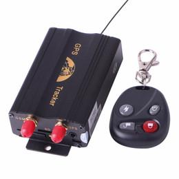 Wholesale Coban TK103B Vehicle GPS Tracker GPS103B Car Tracking Motorcycle Alarm Cut Off Oil Power With Remote Control Shake Sensor Siren