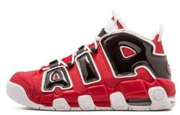Wholesale 2016 Air More Uptempo OG Olympic Varsity Red Asia Hoop Pack White Gum Basketball Shoes For Men Women pic Gym Red Basketball Shoes size