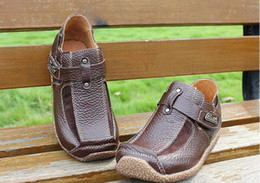 Wholesale Susan Lin Store Kids Casual Shoes Brown Color Genuine Leather Top version