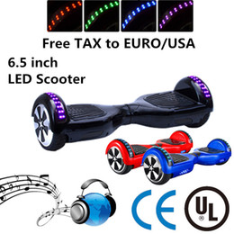 "IN STOCK!!! NO TAX to EURO USA LED Scooter Hoverboard Bluetooth Unicycle Self Balancing Wheel 6.5"" Two Wheels Smart Electric Balance Scooter"