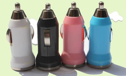 Mini Universal Car auto Bullet Charger Adaptor for Phone Ipad Ipod Free Shipping