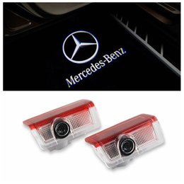 2X LED Car Door Lights Shadow Light Lamp For Mercedes Benz A B C E M GLA GL Class W166 W212 W246 W176