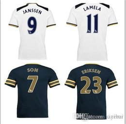 Wholesale DHL Mixed buy Top thai quality Tottenhamed football jersey Quarter adults tees Free number printed