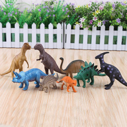 Wholesale Best Sellers Plastic Cement Dinosaur Model Environmental protection PVC plastic Toys Mixed Cartoon Soft Plastic Cement Dinosaur Model