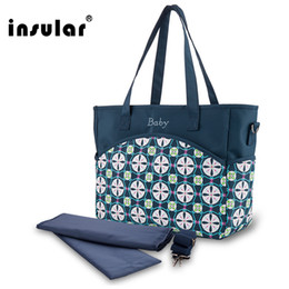 Wholesale Insular Fashion Floral Printing Baby Diaper Bag Multifunctional Mommy Bag Waterproof