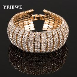 YFJEWE Luxury Crystal Bracelets For Women Bracelets & Bangles Femme Bridal Wedding Jewelry Wholesale B123