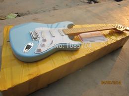 Guitarras cielo de marca en Línea-Guitarra / guitarra azules del color de cielo de la marca de fábrica del oem de la guitarra eléctrica de la tienda de encargo del envío de la venta al por mayor libre del envío de la nueva guitarra eléctrica al por mayor en China