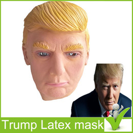 Wholesale Celebrity Masks Wholesale - 2017 The new US president DonaldTrump mask Funny performance Latex mask Ivanka Trump Diane Environmental protection