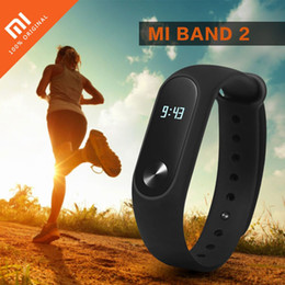 Mi bracelet de bande à vendre-Original Xiaomi Mi Band 2 Heart Rate Monitor Smart Wristband Pedometer Fitness Tracker Miband 2 Bracelet pour Android 4.4 iOS 7.0