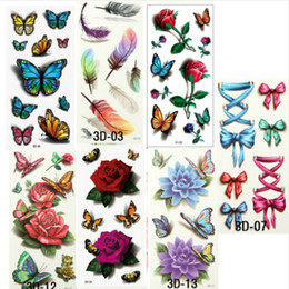 Wholesale 35Pcs Beautiful Cute Sexy Body Art Beauty Makeup Cool Waterproof Temporary Tattoo Stickers For Girls And Man