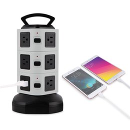 Canada Power Strip Smart Socket 10 Outlet Surge Protector Power Strip avec 4 ports USB Chargeur Station de charge avec câble d'extension de 6,5 pieds Gris Offre