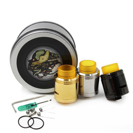 New Kryten RDA Atomizer clone 24mm with PEI drip tips 2 Post Coil Clamping System fit E cigarettes Vape Mods DHL Free