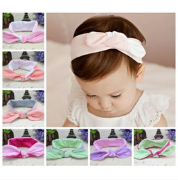 2016 cotton knot headbands for girls double color hair bows fashion hairbands baby princess hair accessories kid boutique headwear wholesale