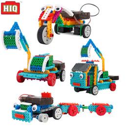 Al por mayor de la ingeniería en venta-Venta al por mayor de ingeniería de vehículos de excavación de motor eléctrico de bloques de control remoto robot de juguete 4in1 Ciencia juguetes educativos para niños
