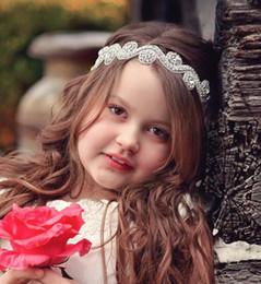 2017 accessoires de cheveux pour les bébés filles 2016 Cristaux Flower Girl Baby Accessoires Cheveux Cheap Wedding Little Girl Headbands 40 CM Bijoux Mariage 03 accessoires de cheveux pour les bébés filles ventes
