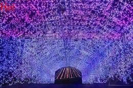 Acheter en ligne Rgb led net-Colorful 300 LEDs Net Mesh Chaîne ampoule Noël Décoration de mariage Décoration Fairy Lights Twinkle éclairage de la lampe EU Plug gros TK1117