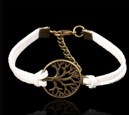 Wholesale Hot multi layer woven circle peace tree Bracelet aliexpress selling handmade Vintage strap jewelry