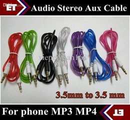 3.5mm cable de audio del conector en venta-CHpost 10pcs 3.5mm a 3.5 milímetros color audio colorido cable auxiliar estéreo para el teléfono Samsung Mp3 Mp4 iPod PC 3.5mm Jack JB7