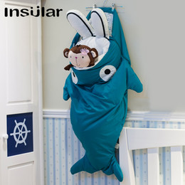 Wholesale Shark Cartoon Baby Sleeping Bag Warm Baby Swaddle (1-3 Years Old)