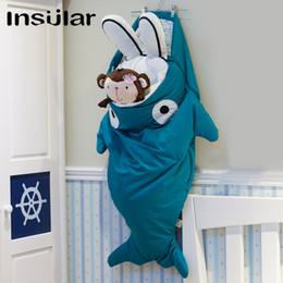 Wholesale Shark Cartoon Baby Sleeping Bag Warm Baby Swaddle (1-3 Years Old)
