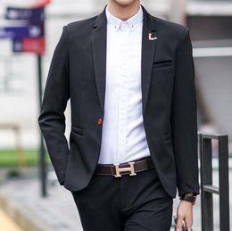 Hombres Traje Chaquetas Blazers Vestido Trajes Hombres Casual Moda Único Botón Estilo Casual Slim Hombres Chaquetas costumbre desde traje formal de un solo botón delgado proveedores