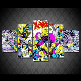 5 Pcs Set Framed HD Printed Uncanny X Men Pictures Picture Wall Art Canvas Print Decor Poster Canvas Oil Painting