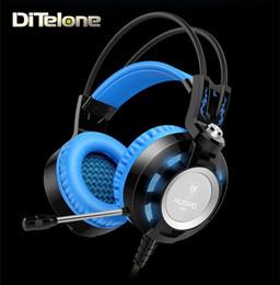 Bruit bleu annulation en Ligne-NUBWO K6 Gaming Headphones Casque sans fil filaire avec annulation de bruit 3.5mm AUX USB Plug MIC pour ordinateur portable blanc / bleu / vert / orange / rouge