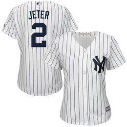 New York Yankees Derek Jeter # 2 Femmes Cool Base Player Jersey 100% surpiqûres Baseball Maillots Avec Mélange Blanc Taille Commande M L XL XXL XXXL à partir de nouvelle femme jersey fabricateur
