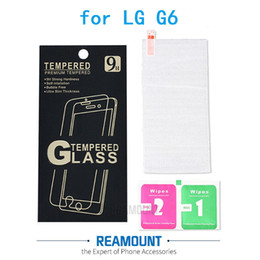 Wholesale High Class Ultra Slim High Clear Tempered Glass Front Screen Protector For LG G6 Toughened Protective Film