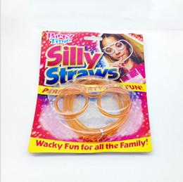 Wholesale Transparent glasses art modelling strange new ideas straw straw interesting cartoon children whimsy small gifts
