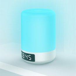 Wholesale W change color dimmable LED bluetooth speaker lamp clock alarm desk light touch sensor camping lamp
