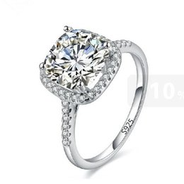 Visisap White gold color ring Engagement bague rings For Women Wedding cubic zirconia fashion jewelry VSR035