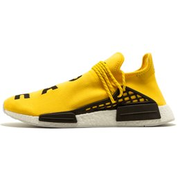 Wholesale Originals PW Human Race NMD PHARRELL YELLOW BB0619 fashion sneakers men shoes manufacture or drop shipment