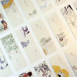 Compra Online Animales libres-Venta al por mayor - 30 PC / marca de libro animal de la historieta linda de la tarjeta de la marca de fábrica de la vendimia de la vendimia de la flor de la vendimia linda para las fuentes de escuela de los
