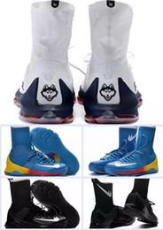 Kds blanc en Ligne-New Kevin Durant KD8 Elite Low Home Blanc Bleu Kds OKC Sneakers Chaussures de basket-ball Chaussures de course à pied KD 8 Playoff pour hommes