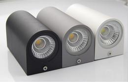 Dans la lumière conduit 6w en Ligne-5pcs / lot LED lampe de mur rectangulaire 6w COB conduit vers le haut et vers le bas selon double-tête extérieure ip65 étanche mur applique