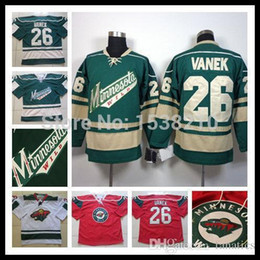 Wholesale Hi Q Men s Minnesota Wild Jersey Thomas Vanek Jerseys New Style Stitched Ice Hockey Jersey Size M XXXL