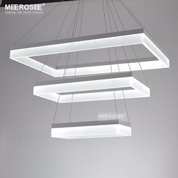 Modern LED Chandelier Lights Acrylic 3 Rectangles LED Suspension Light Lamp for Living Dinning Room new singular Chandelier