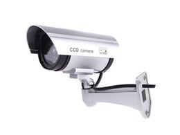 Indoor Outdoor Dummy IR Security Surveillance Camera - Silver - AB-BX-11