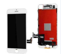 Iphone vidrio de alta calidad en Línea-Exhibición original del LCD de la alta calidad AAA para el iPhone 7 7plus Pantalla de cristal de la pantalla táctil del digitizador Asamblea completa negro / blanco + regalo libre