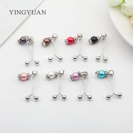 SP53 Fashion single lanterns hijab pins brooches for women classic broches simple hijab pins pearl brooches libelula spille