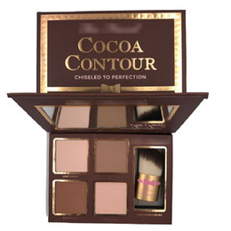 2017 COCOA Contour Kit Highlighters Palette Nude Color Cosmetics Face Concealer Makeup Chocolate Eyeshadow with Contour Buki Brush in stock