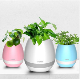 New Unique Hot TOKQI Bluetooth Speaker with LED BT Intelligent Smart Touch Music Flowerpot Plant Piano Playing K3 Wireless Singing Flowerpot